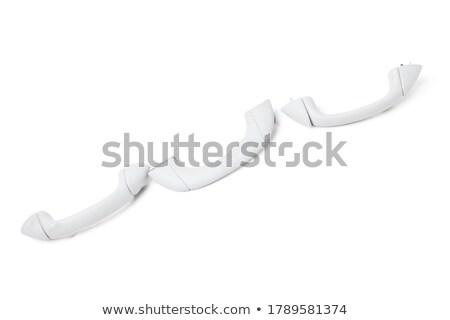 Ajtó zár installáció készlet fehér épület Stock fotó © pxhidalgo
