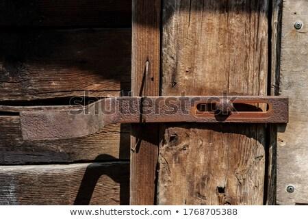 metal bolt for the door against white background stock photo © pxhidalgo
