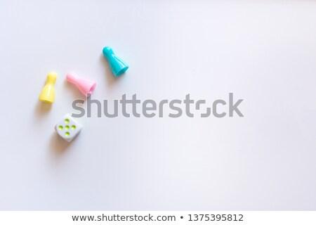 blu · giallo · roulette · chip · casino · bianco - foto d'archivio © michaklootwijk