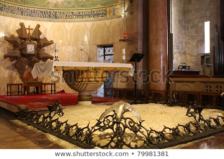 Interior of the Church of All Nations Stock photo © AndreyKr