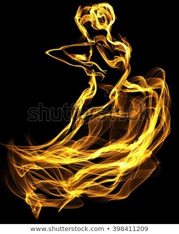 dance · ilustracja · mężczyzna · tancerz · taniec · ognia - zdjęcia stock © derocz
