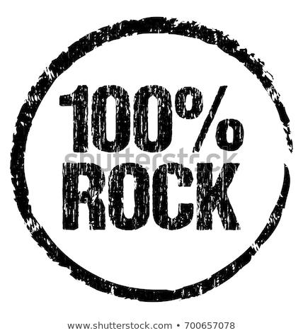 rock · stempel · zwarte · grunge · elektrische · gitaar - stockfoto © burakowski