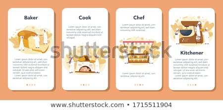 ストックフォト: 内部 · 表示 · オーブン · グリル · 鶏 · 料理