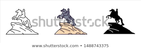 Ruso rey estatua caballo Rusia Foto stock © cosma