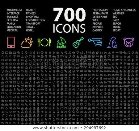 military icon set stock photo © tele52