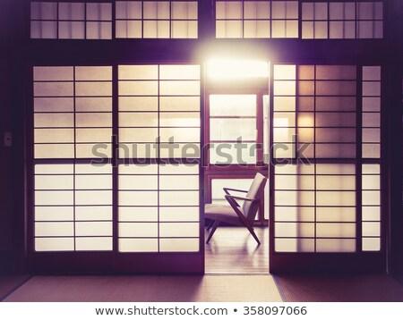 modernes · fenêtre · royal · intérieur · rose · lumière - photo stock © neonshot