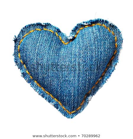 denim hearts on blue stock photo © creator76