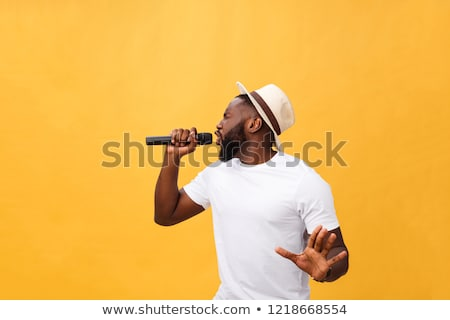 attractive singer on the stage stock photo © nejron