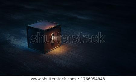 Escapar caixa escada dentro abrir Foto stock © cosma