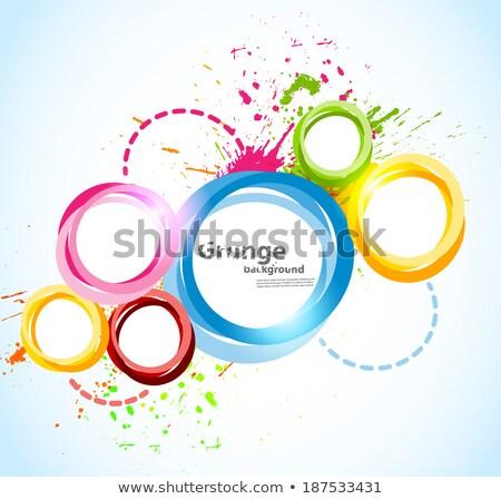 renkli · sıçrama · renkler · dizayn · soyut - stok fotoğraf © pathakdesigner
