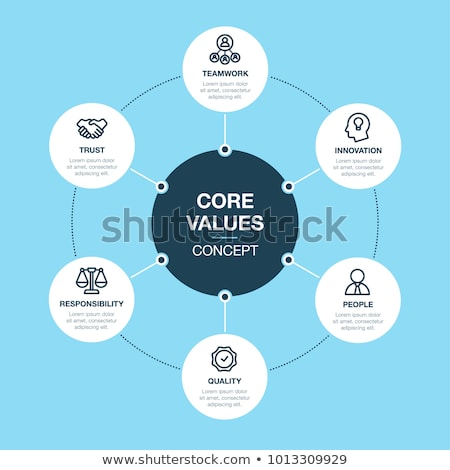 core values - blue business concept banners Stock photo © marinini