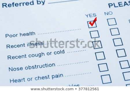 poor health status survey stock photo © ivelin