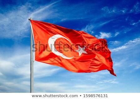 Turco bandeira quadro estrela ferrugem país Foto stock © almir1968