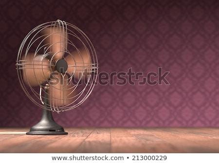 öreg · antik · ventillátor · izolált · fehér · vágási · körvonal - stock fotó © idesign
