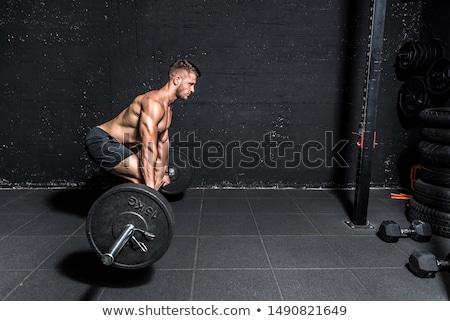 kablo · makine · adam · antreman · spor · salonu · egzersiz - stok fotoğraf © arenacreative