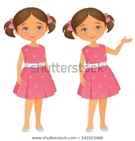 Standing girl preschooler vector Stock photo © arlatis