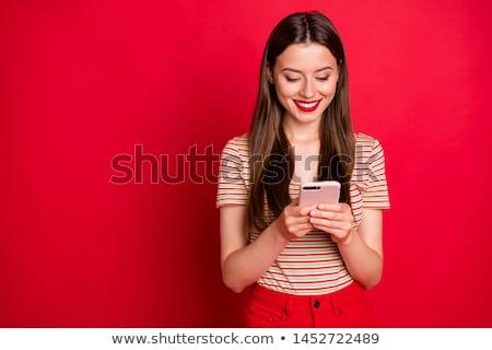 sms · 送信 · 手 · 女性 · スマートフォン · ランチ - ストックフォト © d13