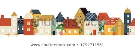 Residencial distrito verão arquitetura imóveis Foto stock © gemenacom