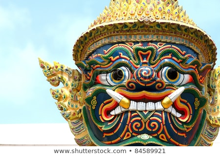 sculptural images of buddha in the old temple bangkok thailand stock photo © pzaxe