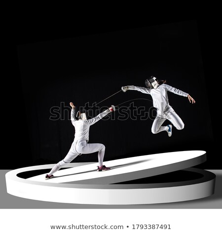 Fencing mask and epee on a floor  Stock photo © Nejron