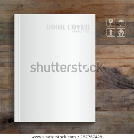 Vector magazine houten tafel sjabloon ontwerp eps Stockfoto © sabelskaya