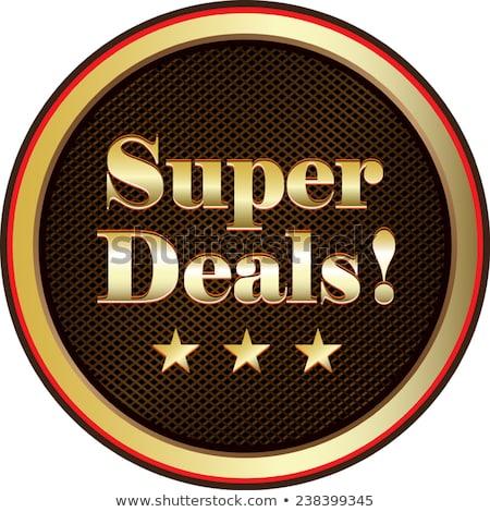 Super Deal Gold Vector Icon Button Stock photo © rizwanali3d