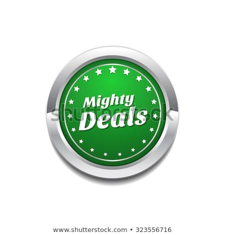 Mighty Deals Green Vector Icon Button Stock photo © rizwanali3d