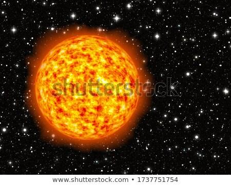 Jasne flash ognia planety fantastyczny tle Zdjęcia stock © mikhail_ulyannik