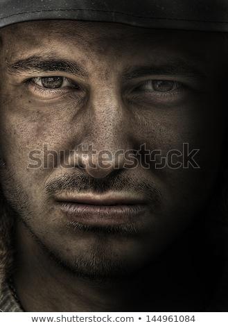 militari · uomo · giovani · gun · isolato · bianco - foto d'archivio © petrmalyshev