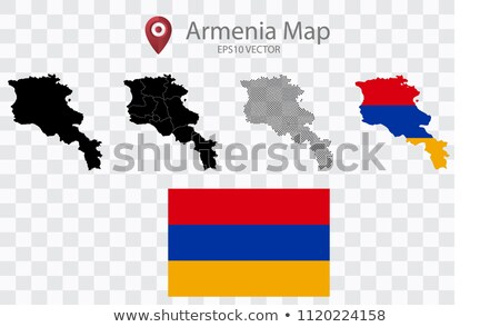map of republic of armenia with with dot pattern stock photo © istanbul2009