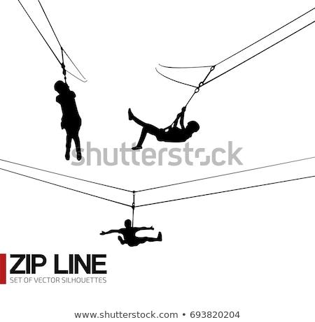 Stock photo: Zip Line Riders