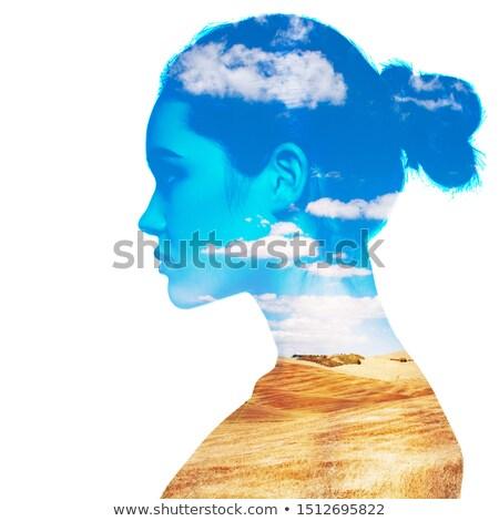 młoda · kobieta · kąpieli · ręcznik · patrząc · ramię · sexy - zdjęcia stock © stryjek