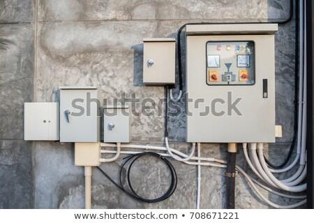 Metal caixa eletricidade dispositivos cinza distribuição Foto stock © vavlt