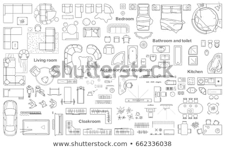 house floor plan blueprint stock photo © pixelsaway