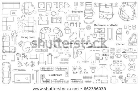 Stock photo: House Floor Plan Blueprint