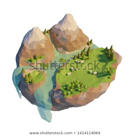 Río resumen bajo polígono estilo Foto stock © patrimonio