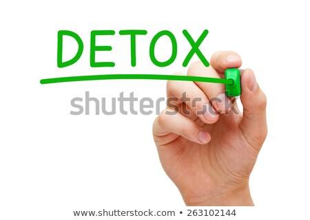 Detox Green Marker Stock photo © ivelin