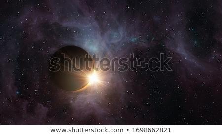 Eclipse espacio escena detallado cielo Foto stock © PokerMan
