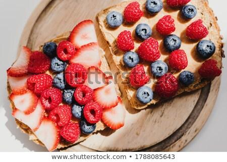 Twee geheel pinda's witte voedsel huid Stockfoto © peter_zijlstra