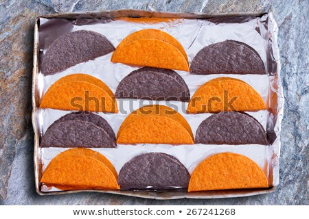 Crunchy tortillas waiting to be heated in the oven Stock photo © ozgur