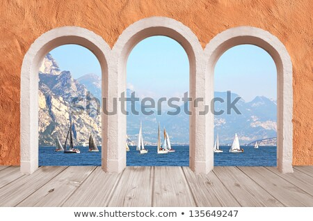 the view from the ancient arches on lake garda stock photo © master1305