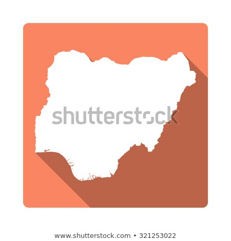 Orange bouton image cartes Nigeria forme Photo stock © mayboro