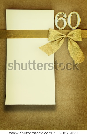 60th anniversary invitation border stock photo © irisangel