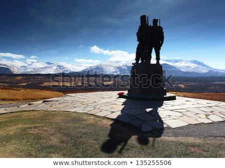 Komandos Szkocji królewski marines świat górskich Zdjęcia stock © photopb