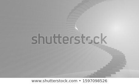 Top view and side view of a Spiral Staircase Stock photo © shawlinmohd