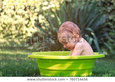 outdoor · doccia · quattro · profondità · blu · senza · nuvole - foto d'archivio © dash