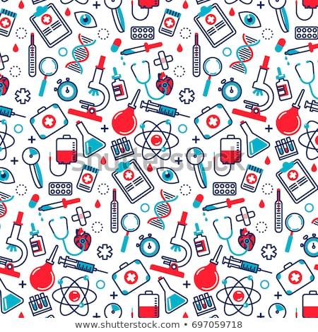 medycznych · ikona · tle · sztuki · podpisania - zdjęcia stock © vectorikart