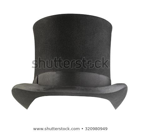 fekete · felső · kalap · illusztráció · izolált · fehér - stock fotó © leonardo
