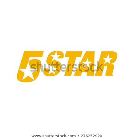 Infinite ribbon five star template.   Stock photo © netkov1