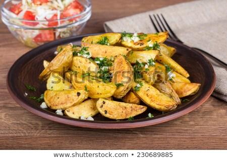 食欲をそそる 焼き ジャガイモ プレート 食品 キッチン ストックフォト © mcherevan